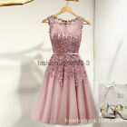 Stock Short Lace Prom Cocktail Party Dress Homecoming Bridesmaid Wedding Dresses