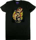 Vince Ray Womens Black T-shirt Tee Top Rockabilly Lady Luck 8 Ball Pinup Flames $26.0 USD on eBay