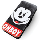 Mickey OHBOY - Faux Leather Flip Phone Case #2 - Parody Obey inspired Disobey