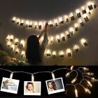 LED Photo Clip Fairy String Light Hanging Picture Photo Lights Bedroom Decor