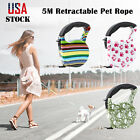 5M Automatic Retractable Traction Rope Pet Dog Cat Puppy Walking Lead Leash New