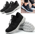 Mens Breathable Slip on Steel Toe Safety Shoes Work Boots Sneakers Sports Shoes