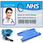 Childs Play ID Card | Doctor or Nurse photo ID card with Holder and NHS Lanyard