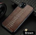 Ostrich Genuine Leather Case for Apple iPhone 11 11Pro Max X XR XSMax Cover Skin