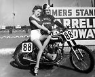 8b20-3011 sexy Arline Hunter in short shorts gets a Triumph Motorcycle lesson 8b $16.74 AUD on eBay