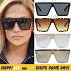 NEW QUAY Hindsight Sunglasses Shield Frames Square Flat Mirror Lens - ALL COLORS