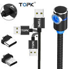 TOPK L Shape Magnetic Braided LED Magnet Charger Cord For Android USB Type-C