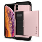 For Apple iPhone X/XS,XS Max Spigen®[Slim Armor CS] Slim Card Wallet Cover Case