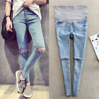 Внешний вид - Spring Autumn Pregnant Women Jeans Holes Denim Maternity Pants Nursing Prop