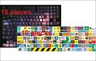 15 pieces Keyboard stickers Space and 10 pieces Logo Decal Decoration Protector