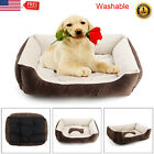 Pet Dog Bed Warm Large House Soft Nest Basket Kennel Washable Beige Cat Puppy