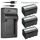 Kastar Battery Slim Charger for Leica GEB221 & Leica TS02 TS06 Total Station