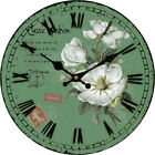 Flowers Wall Clock Home Living Room Kitchen Decor