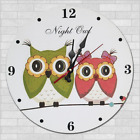 Owl Bird Night Owl Cartoon Wall Clock Kindergarten Home Kitchen Bar Decor