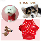 EA31 Red Cotton All Size Pet Clothes Cat Dog Vest Christmas Dress Up
