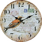 Birds Pastorable Wall Clock Corridor Home Kids Room Living Room Kitchen Decor