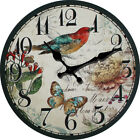 Birds Butterfly Pastorable Wall Clock Home Living Room Kitchen Decor kids Room