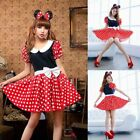 Adult Sexy Women's Cartoon Minnie Mouse Costume Polka Dots H