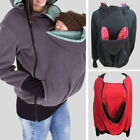 Внешний вид - Mom's Maternity Kangaroo Hoodie Mum Dad Baby Wrap Carrier Pet Holder Shirt Coat