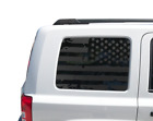 USA American Flag Decal for Jeep Patriot - Window Star Merica 2011-2017 JP7
