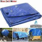 2m x 3m Heavy Duty Tarpaulin Blue Sun Waterproof Strong Cover Ground Sheet Tarp