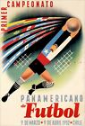 Chile Soccer Sports 1952 South America Vintage Poster Print Retro Football Art