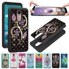 Hybrid Rugged Armor Bling Cute Girls Case Tempered Glass Scr