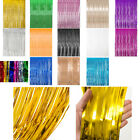 Внешний вид - Metallic Foil Fringe Curtains Backdrop Party Decor Photo Booth Support 3ft x 8ft