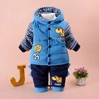 Padded Suits Autumn Winter Infant Baby Boy Clothes Set Cotton Toddler 0-2years