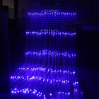 (UKEU) Plug 3mX3m Waterfall Curtain String Lights 300LED Icicle Xmas Christmas