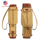 Tourbon Vintage Canvas Golf Stand Carry Bag Sunday Golf Bag Travel Case Cover US