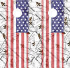 American Flag Snow Camo Cornhole Wrap Boards Decals Bag Toss Game Stickers