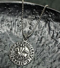 Seal of The Knights Templar Medieval Amulet Medallion Victory Pewter Pendant