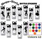 Personalized Name Gaming Vinyl Sticker Kids Boys Nite Wall Decals Fort Bottle