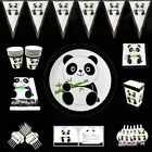 Panda Monium Birthday Party Kids Tableware Decoration Plates Banner Cups Napkins