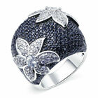 Vintage Flower 925 Silver Plated Rings Jewelry  Women Wedding Size 6-10 Fashion