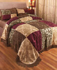 Chenille Design Jewel Fringed Bedspread Cover Bedding Full/Queen - King - Shams image