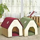 Dog Cat House Pet Puppy Kitten Soft Home Bed Shape Red Green Cave Cabin Box New