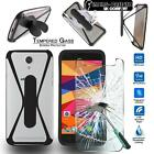 Tempered Glass Screen Protector + silicone bumper Stand Case for Ulefone Mobile