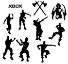 9X Gaming Emotes Nite Fortnight Boys Vinyl Stickers Wall Laptop Room Decals Fort