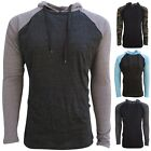 Mens Lightweight Pullover Hoodies-Raglan Pattern in Camo, Blue, Gray or Charcoal