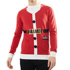 Men Christmas Jumper Crew Neck Sweater Novelty 3D Pullover Santa Elf Brave Soul