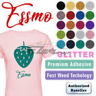 ESSMO  Glitter Heat Transfer Vinyl HTV Sheet T-Shirt Iron On Press Weed Easy 20""