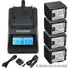 Kastar Battery LCD Fast Charger for Canon BP-819 CG-800 & Canon VIXIA HG30
