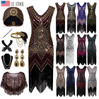1920s Flapper Dress Gatsby Formal Evening Prom Party Cocktail Dress Vintage Deco $41.39 USD on eBay