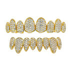 18K Gold Plated Hip Hop Grill Top Bottom Mouth Tooth Cap Bling Teeth Grills