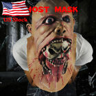 """Carnival Cosplay """"Stitches"""" LED Light Up Masks Scary Bloody Zombie Mask Costume"""