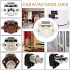 1/5x Practical Cupboard Door Drawer Caravan Push Button Catch Boat Lock Van Boat