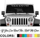 If You Can Read This Roll Me Over Script Windshield Decal Sticker Vinyl Diesel