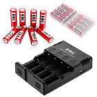 Lot EBL 14500 Li-ion 800mAh 37V Rechargeable Batteries & Box  AA AAA Charger